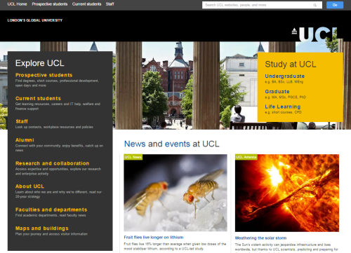 Featured UCL front page