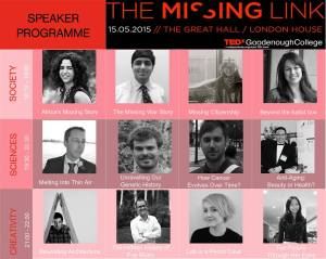TEDxGoodenoughCollege. The missing link (1)
